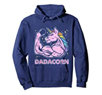 Father's Day Gif Funny Dadacorn Shirts Hoodie Navy