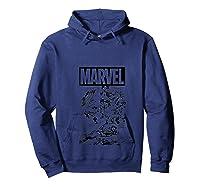 Captain America Black And Comic Panels Logo Shirts Hoodie Navy