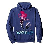 Disney Little Mermaid Your World Graphic T-shirt Hoodie Navy