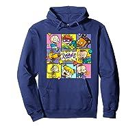 Rugrats Retro Box T-shirt Hoodie Navy