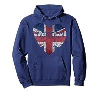 London Flag Uk Vintage Heart Gift Souvenir City T Shirt Hoodie Navy