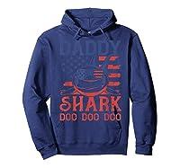 American Flag Daddy Shark Doo Doo Doo 4th Of July Shirts Hoodie Navy