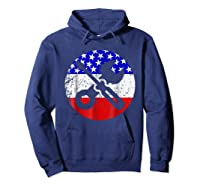 American Flag Car Mechanic Shirt - Screwdriver Wrench Shirt Hoodie Navy