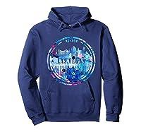 Watercolor Las Vegas Shirt Nevada City Gift Hoodie Navy
