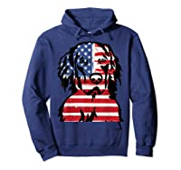Funny Hovawart American Flag 4th Of July Shirts Hoodie Navy