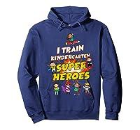 Train Kindergarten Super Heroes Gift For Tea Shirts Hoodie Navy