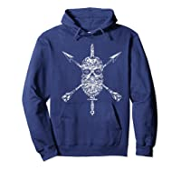 Vintage Sugar Skull Special Forces Military Tribute Design Shirts Hoodie Navy