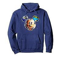 Disney Mckey Mouse Universe T Shirt Hoodie Navy