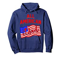 All American Dad 4th Of July Independence Day Shirts Hoodie Navy