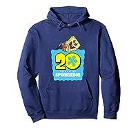 Spongebob Squarepants 20 Years Of Spongebob T-shirt Hoodie Navy
