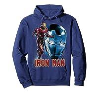 Avengers Endgame Iron Man Side Profile Graphic Shirts Hoodie Navy