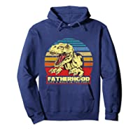 Fatherhood Like A Walk In The Park Father's Day Gif Shirts Hoodie Navy