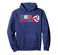 Usa And Volleyball For Athletes Shirts Hoodie Navy