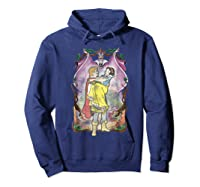 Snow Distressed Poster Style Graphic Shirts Hoodie Navy