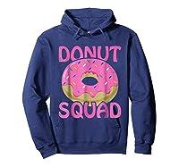 Pink Donut Squad Birthday Shirts Hoodie Navy
