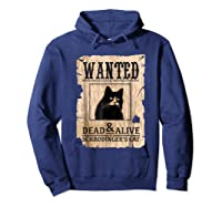 Funny Wanted Science Schrodinger's Cat Dead Or Alive Tshirts Hoodie Navy