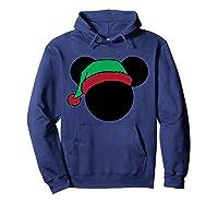 Disney Mickey Elf T Shirt Hoodie Navy
