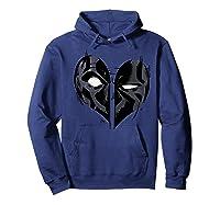Deadpool Heart Mask Valentine's Shirts Hoodie Navy
