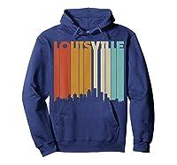 Louisville Retro Skyline City T Shirt Souvenir Skyline Hoodie Navy
