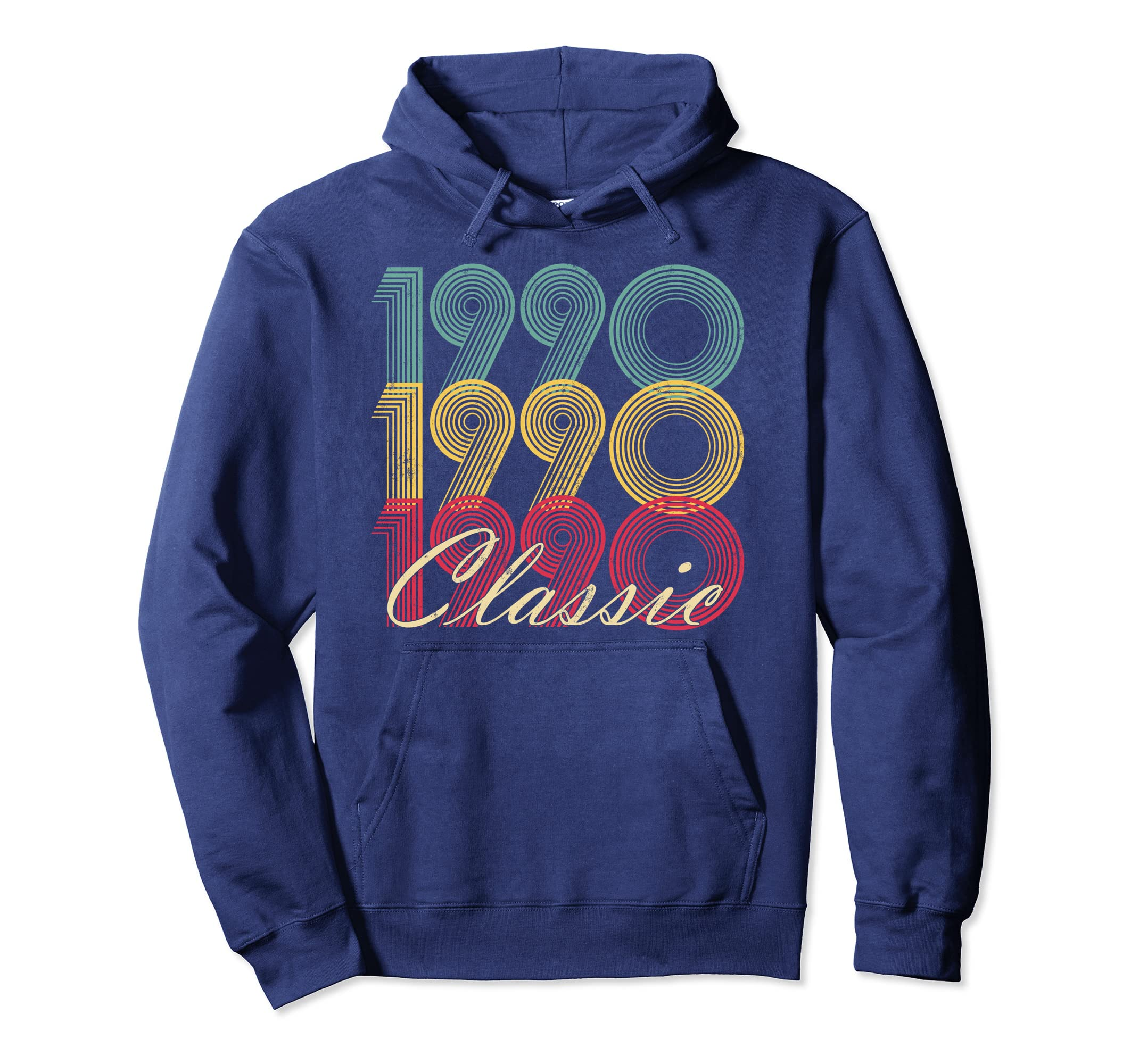 Classic 1990 28th Birthday Vintage Hoodie Retro 28 Son Gift-Colonhue