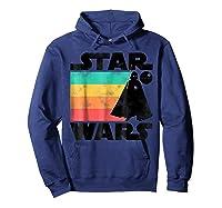 S Darth Vader Retro Stripes Baby Death Star Shirts Hoodie Navy