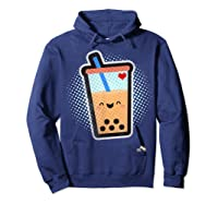 Boba Milk Tea Bubbles T-shirt Hoodie Navy