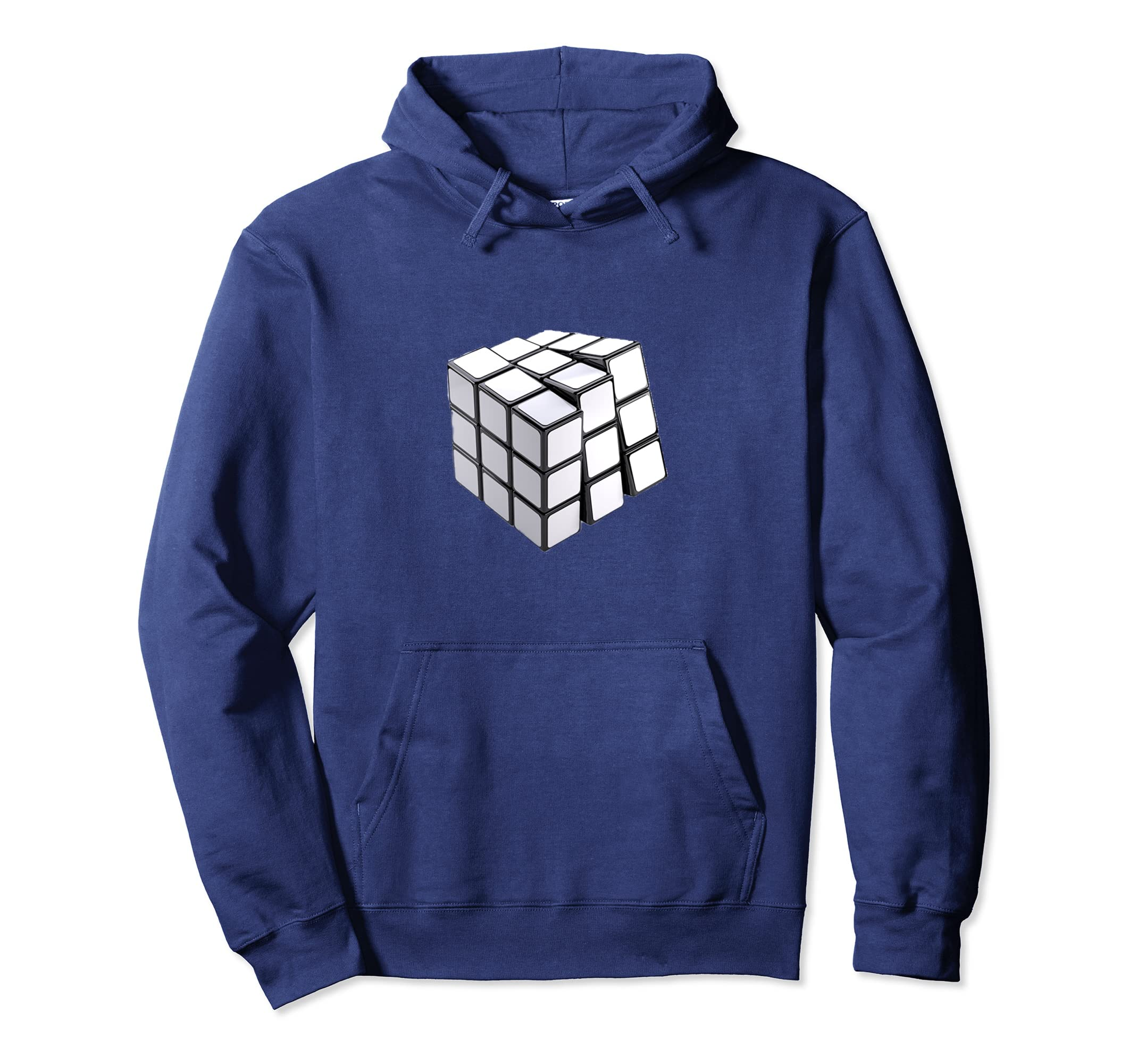 Rubiks White Cube Adult Hoodie,Maths Solver Costume For all-Teechatpro