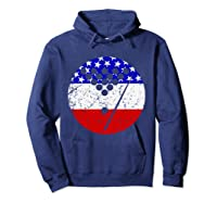 American Flag Billiards Vintage Retro Pool Shirts Hoodie Navy