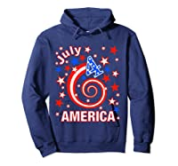 Festive 4th Of July, Independence Day Design Shirts Hoodie Navy