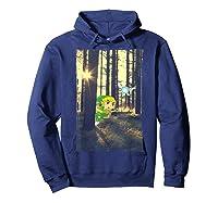 Nintendo Zelda Link And Navi Photo Real Forest Scene Shirts Hoodie Navy