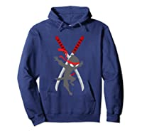 Cwc Chad Wild Ninja Swords T Shirt For Clay Gift Hoodie Navy