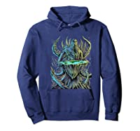 Flat Earth Monster Shirts Hoodie Navy