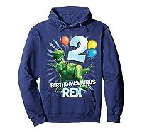 Disney Pixar Toy Story Birthdaysaurus Rex 2nd Birthday T-shirt Hoodie Navy