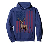 Best Buckin' Pappy Ever Us Flag Hunting Tshirt Fathers Gifts Hoodie Navy