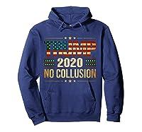 Trump 2020 No Collusion Shirts Hoodie Navy