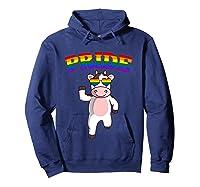 Lgbt Cow Gay Pride Rainbow Lgbtq Cute T-shirt Hoodie Navy