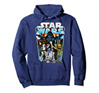 S Classic Comic Art Group Shot Darth Vader Shirts Hoodie Navy