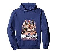Wrestlemania Group Wwe T-shirt Hoodie Navy