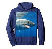 Great Shark With Braces And Human Th Shirts Hoodie Navy