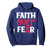 Faith Over R Breast Cancer Awareness Gift Shirts Hoodie Navy