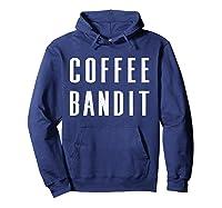 Coffee Bandit T Shirt Hoodie Navy