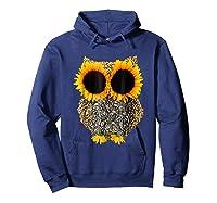 Owl Sunflower Shirt Funny Owl Lovers Shirt Hoodie Navy