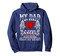 My Dad, My Hero, My Guardian Angel Father's Day Shirts Hoodie Navy
