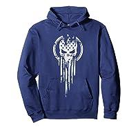 New American Warrior Flag Skull Military T-shirt Army Usa T-shirt Hoodie Navy