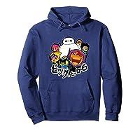 Disney Big Hero 6 Team Of Superheroes Chibi T-shirt Hoodie Navy