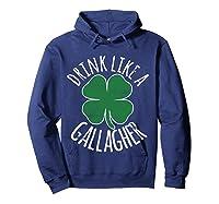 Gllgher St Patrick's Day Beer Irish Shirts Hoodie Navy