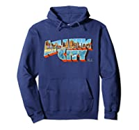 Atlantic City New Nj Vintage Retro Souvenir T Shirt Hoodie Navy