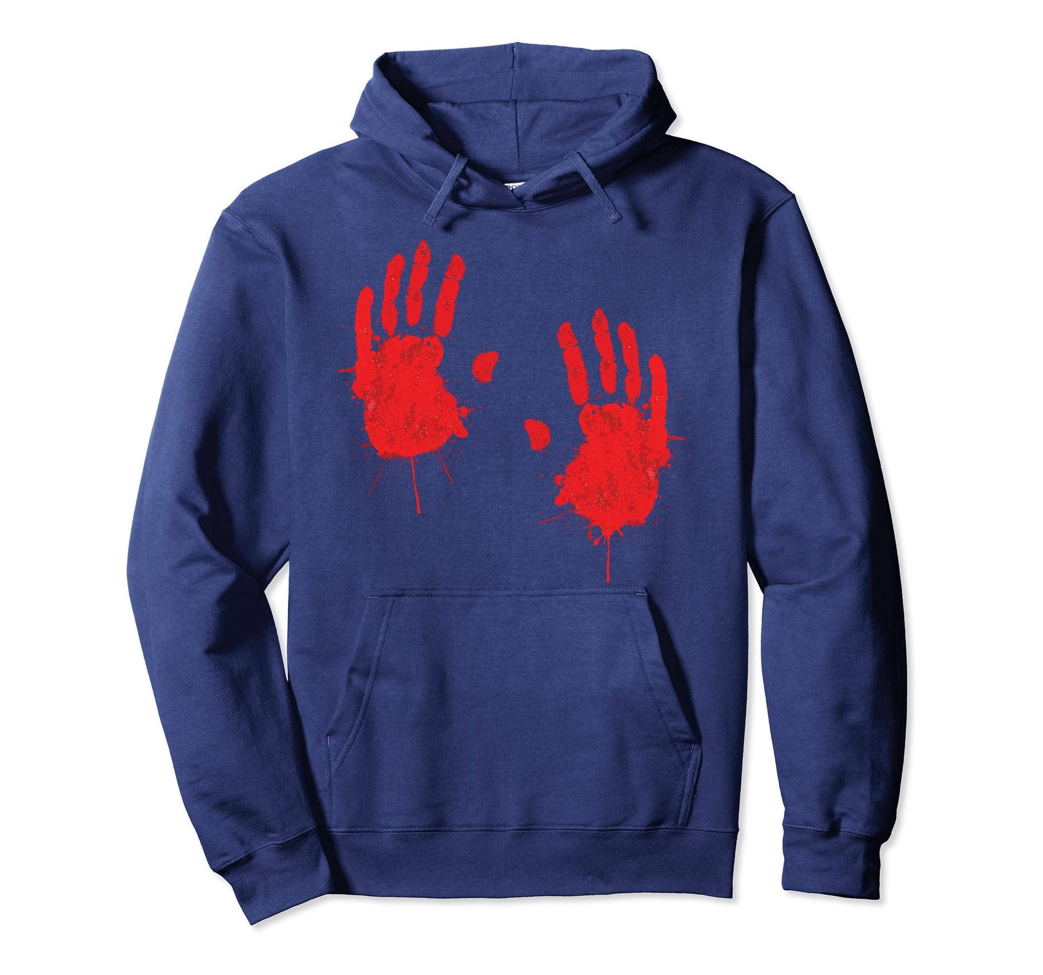Amazon com: Happy Halloween Bloody Hand Print Hoodie Costume