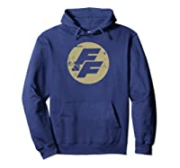 Fast Furious Distressed Beige Logo Ted Shirts Hoodie Navy