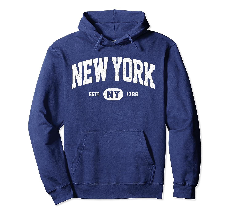 9d8aae63f794a Amazon.com: NY New York Sweatshirt Retro Vintage New York Hoodie Gifts:  Clothing